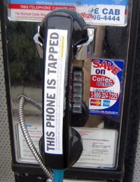 this phone is tapped sticker