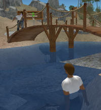 My Second Life avatar in the water