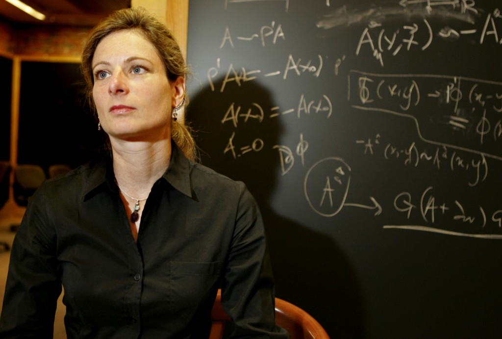 CAMBRIDGE - AUGUST 29: Lisa Randall, a Harvard theoretical physicist, at her university office in Jefferson Hall. (Photo by Matthew J. Lee/The Boston Globe via Getty Images)