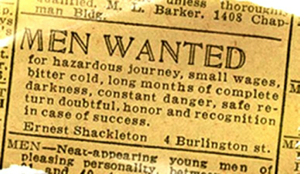shackleton ad
