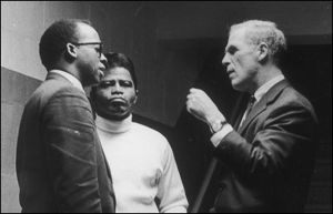 With Councillor Tom Atkins and the legend James Brown, negotiating the concert that calmed Boston after the M. L. King Jr. assassination, 1968