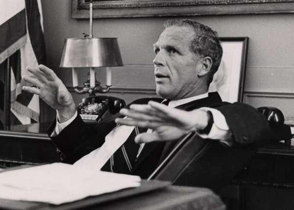 Kevin White in his office, 1968.  Boston Globe photo