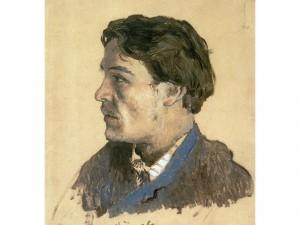 Levitan portrait of Chekhov