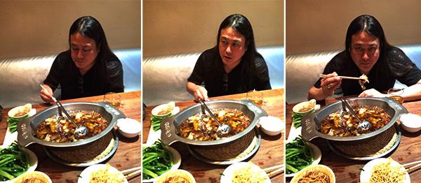 KK at dinner