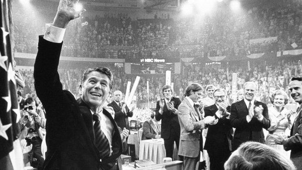 Ronald Reagan Attends Republican National Convention