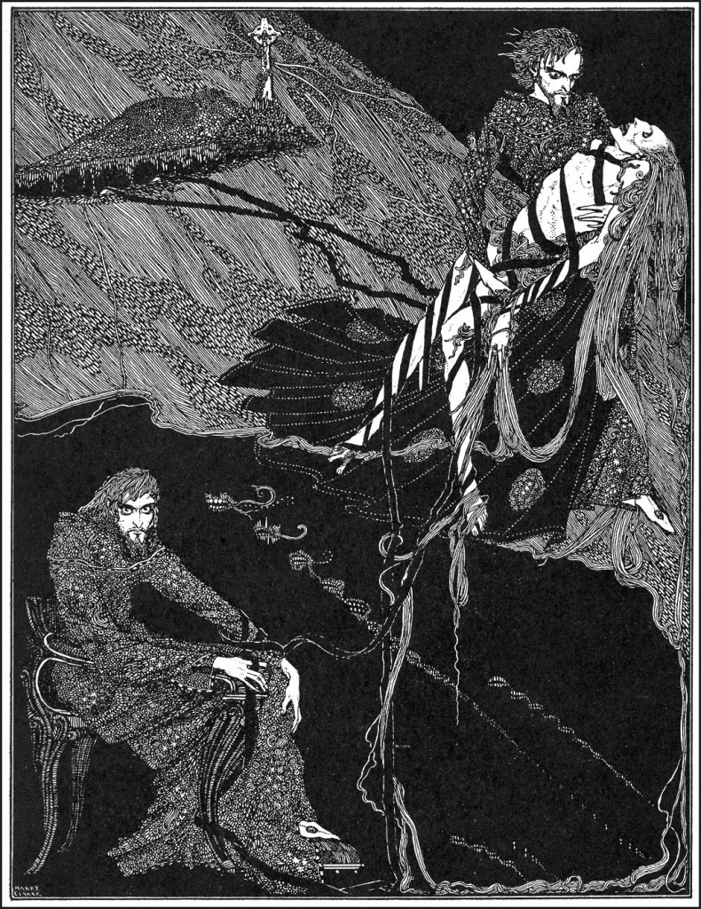 "Harry Clarke, 1916, illustration for 'Berenice' for ""Tales of Mystery and Imagination"""