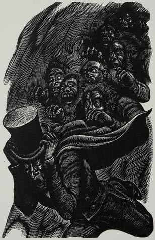 "Fritz Eichenberg, 1944. ""The Imp of the Perverse""."