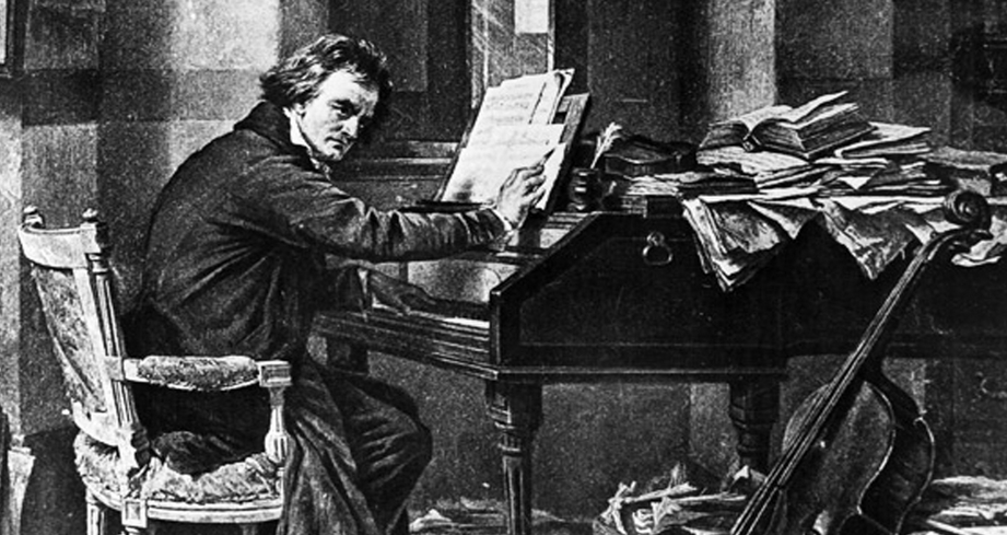 Beethoven Playing Piano